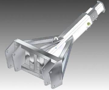 Телескопическая стрела с крюком