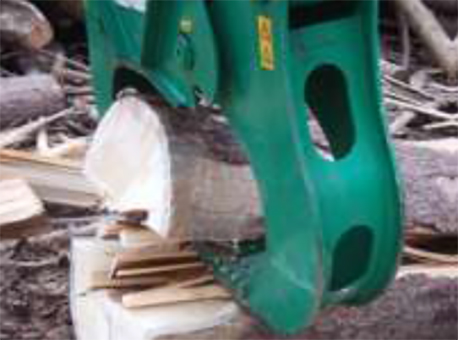 для расщепления стволов деревьев