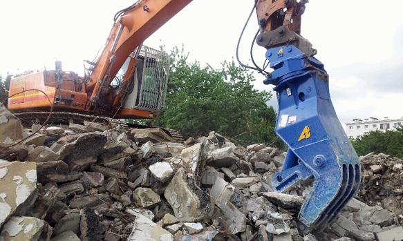 Фото гидравлическая дробилка для бетона BBH 800 R. Рециклинг