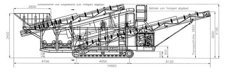 SM 1340 T. Транспортные размеры