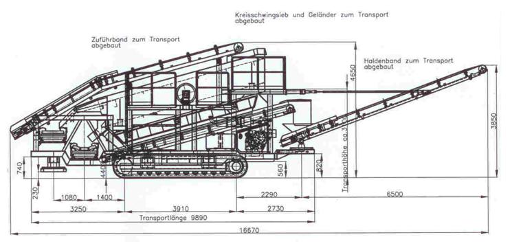 SM 1550 T. Транспортные габариты