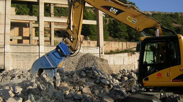 Фото гидравлическая дробилка для бетона BBH 800. Демонтаж