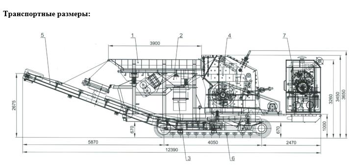 РВ 100 Т. Транспортные размеры