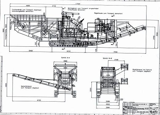 Транспортные размеры РВ 130 Т