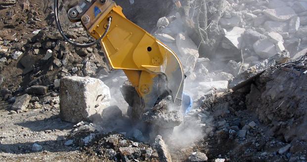 Фото гидравлическая дробилка для бетона BBH 1000. Рециклинг