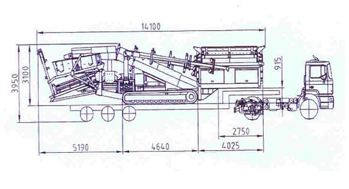 SM 1530 T. Транспортные размеры