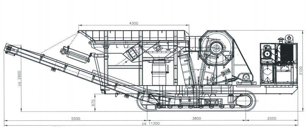 BB 100 T-1. Транспортные размеры
